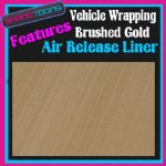 2M X 1520mm VEHICLE CAR VAN WRAP BRUSHED GOLD WITH AIR RELEASE LINER